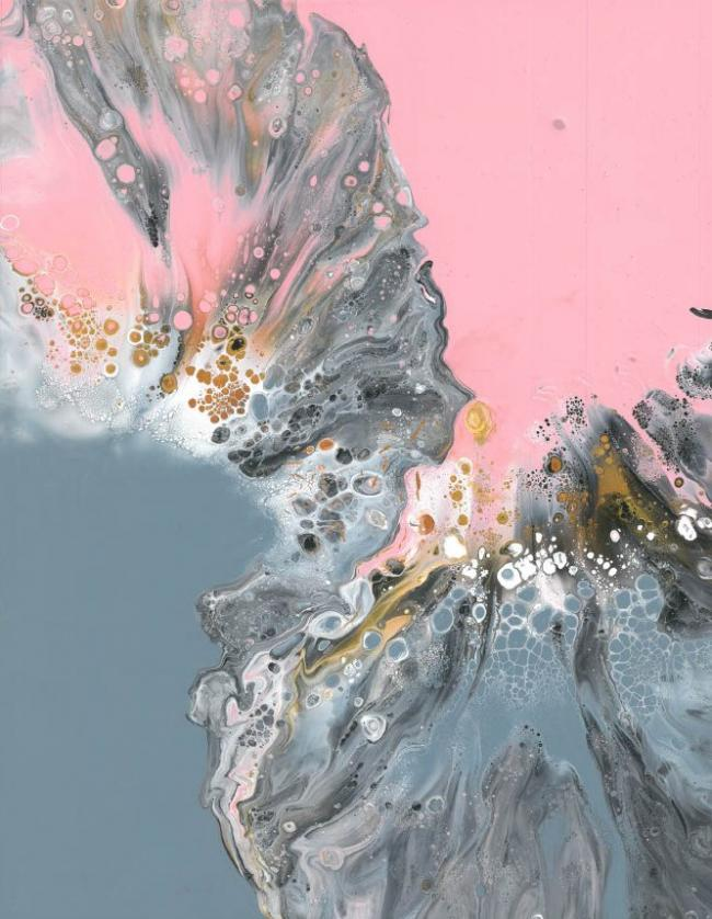 Pink and Grey abstract 1